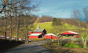 Boggs Township, Centre County, Pennsylvania - A farm in Boggs Township