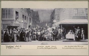 Bohème, Kungliga teatern 1901. Föreställningsbild - SMV - H13 019.tif