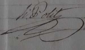Bompas, Pyrénées-Orientales - Signature of mayor Honoré Polit in 1815
