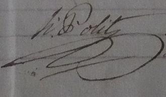 Bompas, Pyrénées-Orientales - Signature of mayor Honoré Polit in 1815