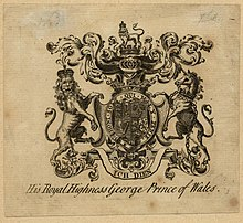 Bookplate of George while Prince of Wales