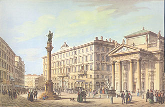 Trieste - The Stock Exchange Square in 1854