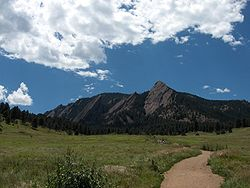 Hiking trails and rock climbing in Boulder are very popular at Chautauqua park.