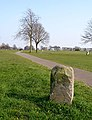 Boundary stone and footpath crossing The Downs - geograph.org.uk - 384982.jpg