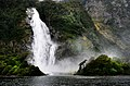 Bowen Falls Milford Sound NZ. (10657996025).jpg