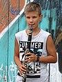 Boy with Clarinet - Podil District - Kiev - Ukraine (29841095228).jpg