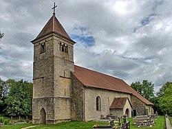 Brémondans, l'église de la Nativité-de-la-Vierge de Leugney.jpg