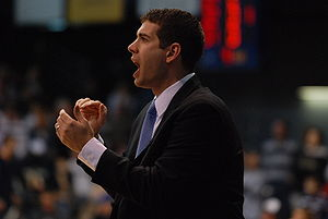 Brad Stevens - Image: Brad Stevens encouraging the team