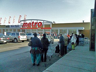 Brampton Mall - Reopening of the Metro store, 2012, created significant lineups to enter the store.