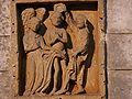 Brantôme bas-relief baptême Christ.JPG
