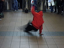 Break dancer, New York.