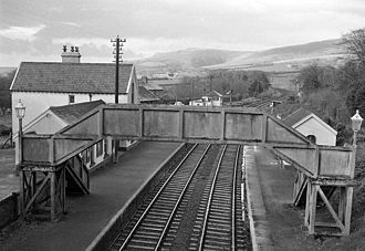 London and South Western Railway - Bridestowe Station in 1964