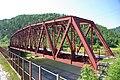 Bridge at 110 km, cape Polovinnyi. Circum-Baikal Railway by trolleway, 2009 (31896324900).jpg