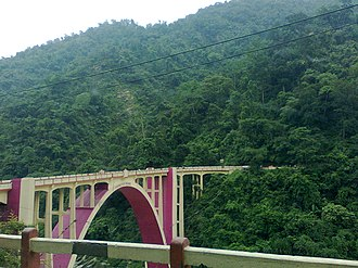 Darjeeling district - Coronation Bridge over Teesta river.