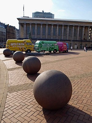 English: Britain and Birmingham has balls A Na...