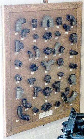 Piping and plumbing fitting - Display of threaded cast-iron fittings