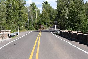 Brockway Mountain Drive - Western terminus near the M-26–Silver River Culvert (foreground)