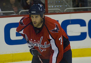 Brooks Laich - Laich while a member of the Washington Capitals