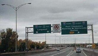 Autoroutes of Quebec - Autoroute 15 Northbound, near Brossard.