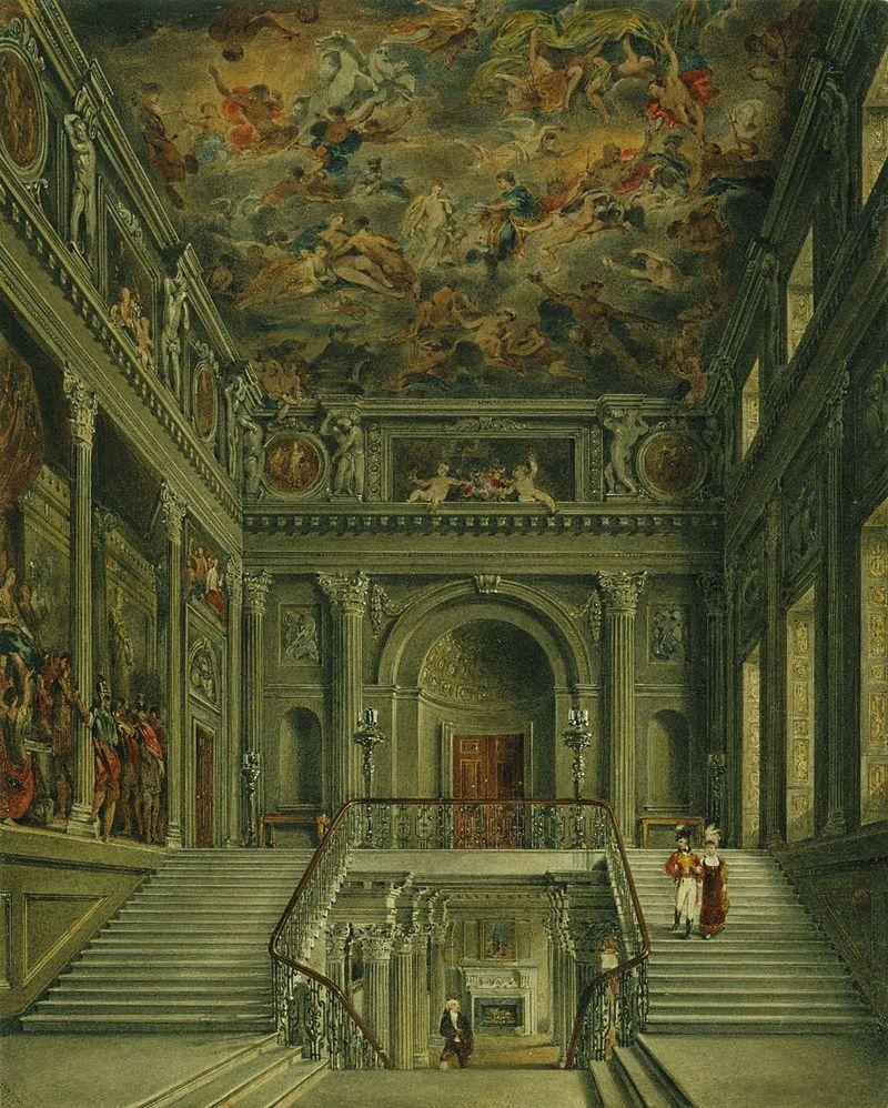 Букингемский дом, лестница, Джеймс Стефанофф, 1818 - королевский колл 922138 257061 ORI 0.jpg
