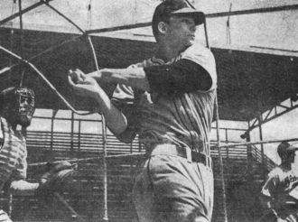Larry Pennell - Larry Pennell playing with the Evansville Braves in 1949.