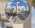 Buenos Aires center with obelisco seen through glass ball.jpg