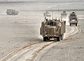 Buffalo Vehicle Part of Talisman Suite in Convoy in Afghanistan MOD 45153767.jpg