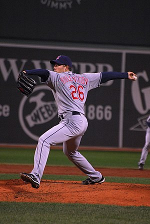 Bryan Bullington - Bullington pitching for the Cleveland Indians in 2008