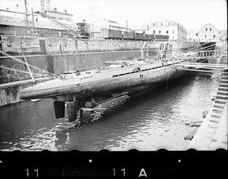 German submarine U-37 (1938) - U-37 at Lorient in 1940