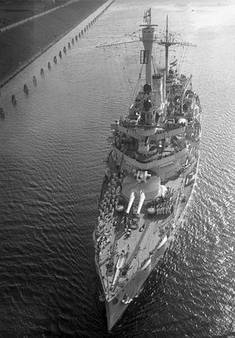 SMS Schleswig-Holstein - Schleswig-Holstein transiting the Kaiser Wilhelm Canal in 1931