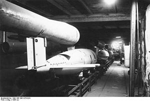 Mittelwerk - V-1 cruise missile assembly line at the Mittelwerk II underground facility
