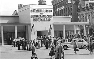 National Front (East Germany) - Pavilion of the National Front in Leipzig, 1953