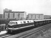 Bundesarchiv Bild 183-H0927-0016-001, Halle, Halle-Nord, Bahnhof, Zug