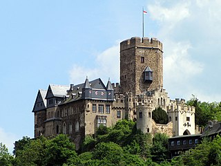 Lahneck Castle Castle on the Middle Rhine, Germany