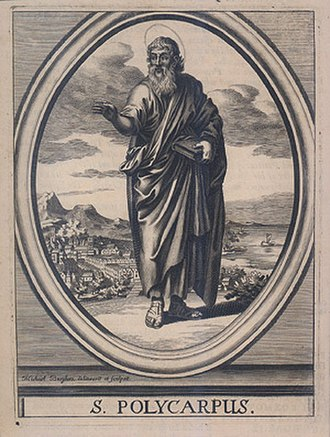Polycarp - S. Polycarpus, engraving by Michael Burghers, ca 1685