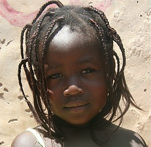 Demographics of Burkina Faso - A girl from Burkina Faso
