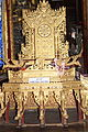 Burmese throne at Kyaung Khon Monastery Inle.JPG