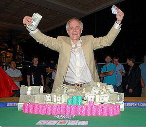 Burt Boutin - Boutin, after winning the $5,000 Pot Limit Omaha w/rb event. at the 2007 World Series of Poker