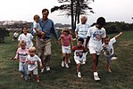 Bushes with their grandchildren at Walker's Point 2921.jpg
