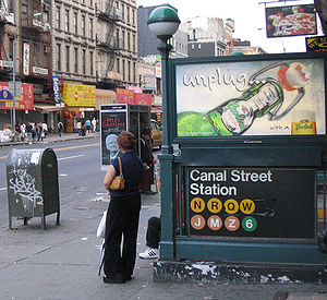 Canal Street (New York City Subway) - Entrance to the IRT Lexington Avenue Line station platforms