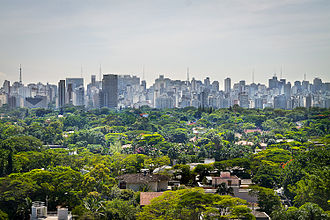 Metropolitan area - São Paulo, one of the largest metropolitan areas in the world.