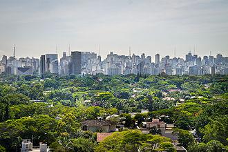 Metropolitan area - São Paulo, one of the largest metropolitan areas in the world.