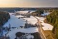 Byabäcken river valley towards west in Sipoo, Finland, 2021 March.jpg