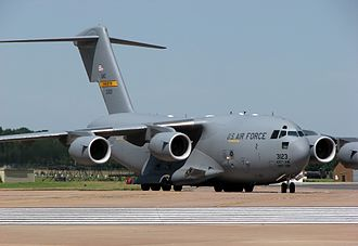 Cargo aircraft - A large military transport aircraft: the Boeing C-17A Globemaster III