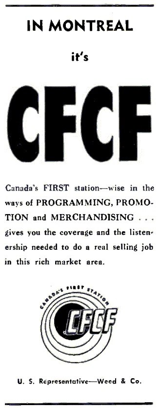 "CINW - Station advertisements included the slogan ""Canada's First Station""."