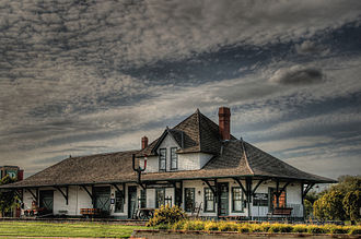 Fort Saskatchewan - Historic Fort Saskatchewan railway station