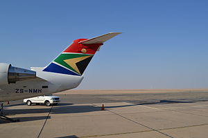 Walvis Bay Airport - South African Express Bombardier CRJ-200 at Walvis Bay Airport, 2014