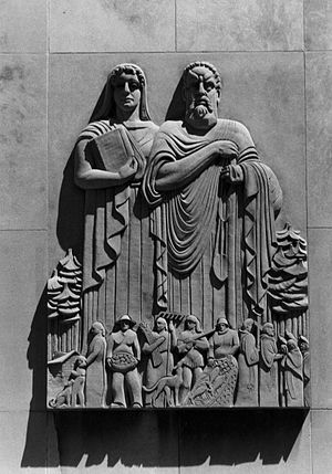 Washtenaw County, Michigan - Washtenaw County Court House, sculpture by Carlton W. Angell