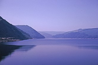 Elan Valley Reservoirs - Caban-coch Reservoir c.1963.