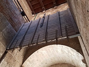 Portcullis - The inner portcullis of the Torre dell'Elefante (Cagliari).